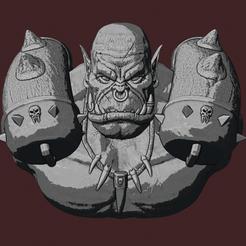 GARROSH.png Descargar archivo STL El jefe de guerra de los orcos de Warcraft, Garrosh • Objeto para impresión 3D, DFB93