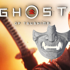 Title.png Download STL file Ghost of Tsushima: Ghost Mask • 3D print object, DFB93