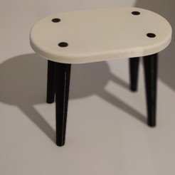 Télécharger STL gratuit table de maison de poupée, alvarogslt
