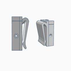 Molle clip.png Télécharger fichier STL RIS rail molle clip mount • Plan imprimable en 3D, AP_w0rks