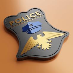 police  badge3.png Télécharger fichier OBJ Insigne de la police • Objet à imprimer en 3D, meharban