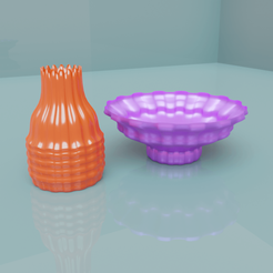 pots.png Download OBJ file 2 pots • 3D printer object, meharban