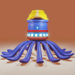 enginner octo2.png Download OBJ file ENGINNER OCTOPUS (BOX) • 3D printable template, meharban