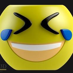 frente.jpg Download STL file Cute Emoji pot, model 7 • 3D printer object, SaenzRomero_Eureka3DED