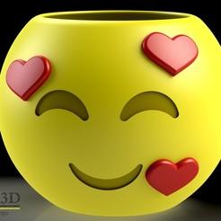 ISO1.jpg Download STL file Cute Emoji pot, model 8 • 3D printing object, SaenzRomero_Eureka3DED