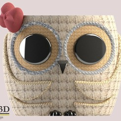 FRENTE.jpg Download STL file Cute owl Pot model 3 • Template to 3D print, SaenzRomero_Eureka3DED