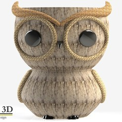 ISO1.jpg Download STL file CUTE OWL POT • Template to 3D print, SaenzRomero_Eureka3DED
