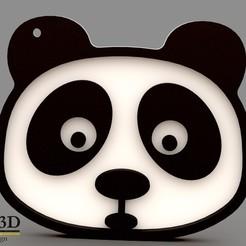 iso1 sin precio.jpg Download STL file PANDA KEYCHAIN / PANDA KEYCHAIN / PORTE-CLÉS PANDA • Object to 3D print, SaenzRomero_Eureka3DED