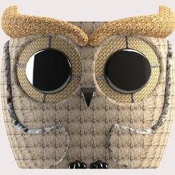 frente.jpg Download STL file Cute owl Pot model 4 • 3D print object, SaenzRomero_Eureka3DED