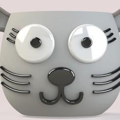 FRENTE.jpg Download STL file Cute cat Pot • Model to 3D print, SaenzRomero_Eureka3DED