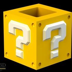 """COMPL1.jpg Télécharger fichier STL Moule d'empotage : """"Super Mario Bros. interrogation block"""" • Plan pour impression 3D, SaenzRomero_Eureka3DED"""