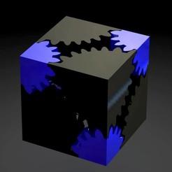 Download free STL files Gear cube rubik, saenzromero20