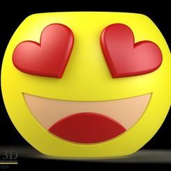 FRENTE.jpg Download STL file Cute Emoji pot, model 4 • 3D printable template, SaenzRomero_Eureka3DED