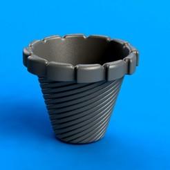 Download STL Pot for mini cactus, model 1!, saenzromero20