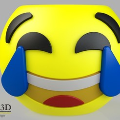 ISO1.jpg Download STL file Cute Emoji pot, model 1 • 3D print template, SaenzRomero_Eureka3DED