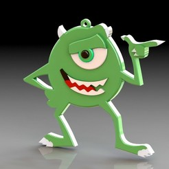 Download 3D print files Key ring Mike Wazowski, saenzromero20