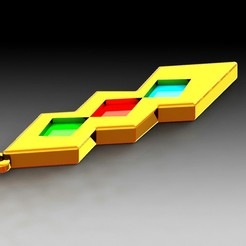 Download 3D printer model Key ring: Trio Medal, saenzromero20