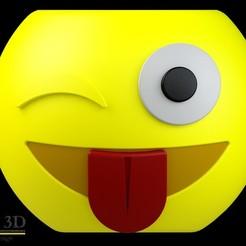 FRENTE.jpg Download STL file Cute Emoji pot, model 3 • 3D printing template, SaenzRomero_Eureka3DED