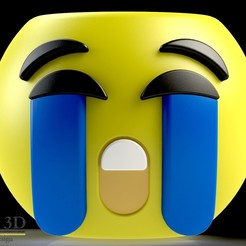 FRENTE.jpg Download STL file Cute Emoji pot, model 5 • Template to 3D print, SaenzRomero_Eureka3DED