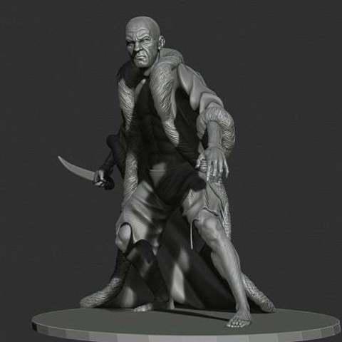 Download free 3D printing templates Thief with furcoat, Boris3dStudio