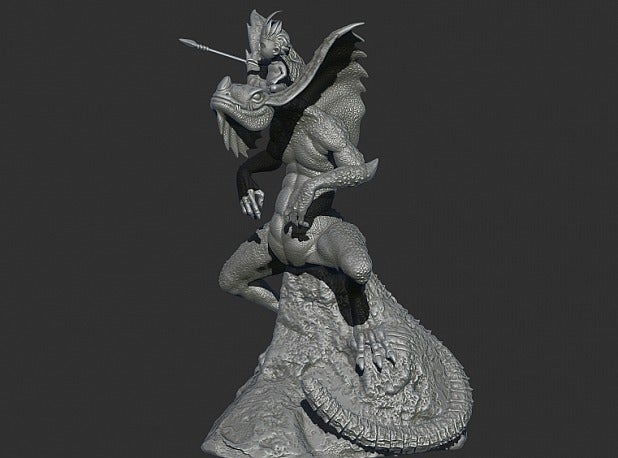 77a8f7c99cf7b307738fa79a04791ab0_display_large.jpg Download free STL file King of the Lizzard • Object to 3D print, Boris3dStudio