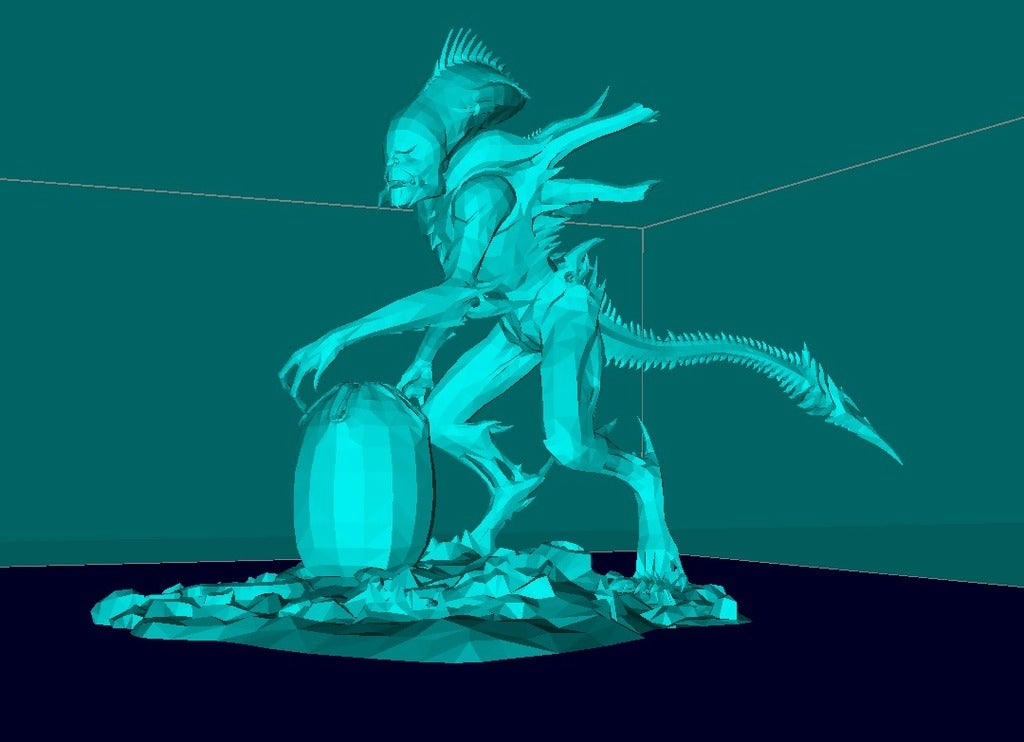22181209a0562a4129b2dd2dce49e5e3_display_large.jpg Download free STL file Alien with the Egg • 3D print design, Boris3dStudio