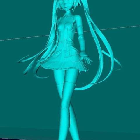 55aadd10583cf20dd36684ce575841c8_display_large.jpg Download free STL file Miku Hatsune • 3D printer design, Boris3dStudio