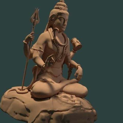 3992f0ff06aac7bab3948611898f55ea_display_large.jpg Download free STL file Statue of Shiva in the lotus position at Murudeshwar • 3D printing model, Boris3dStudio