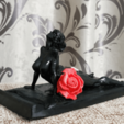 Download free STL file Phone Stand with a nice girl • 3D printable object, Boris3dStudio
