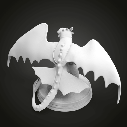 untitled.277.png Download free STL file Toothless Diorama • 3D printable object, Boris3dStudio