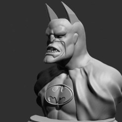 Download free 3D printer designs Batman real face of capitalism bust (batmetal), Boris3dStudio