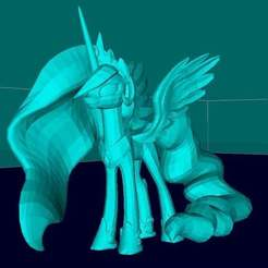 Download free 3D printer templates Princess Luna, Boris3dStudio