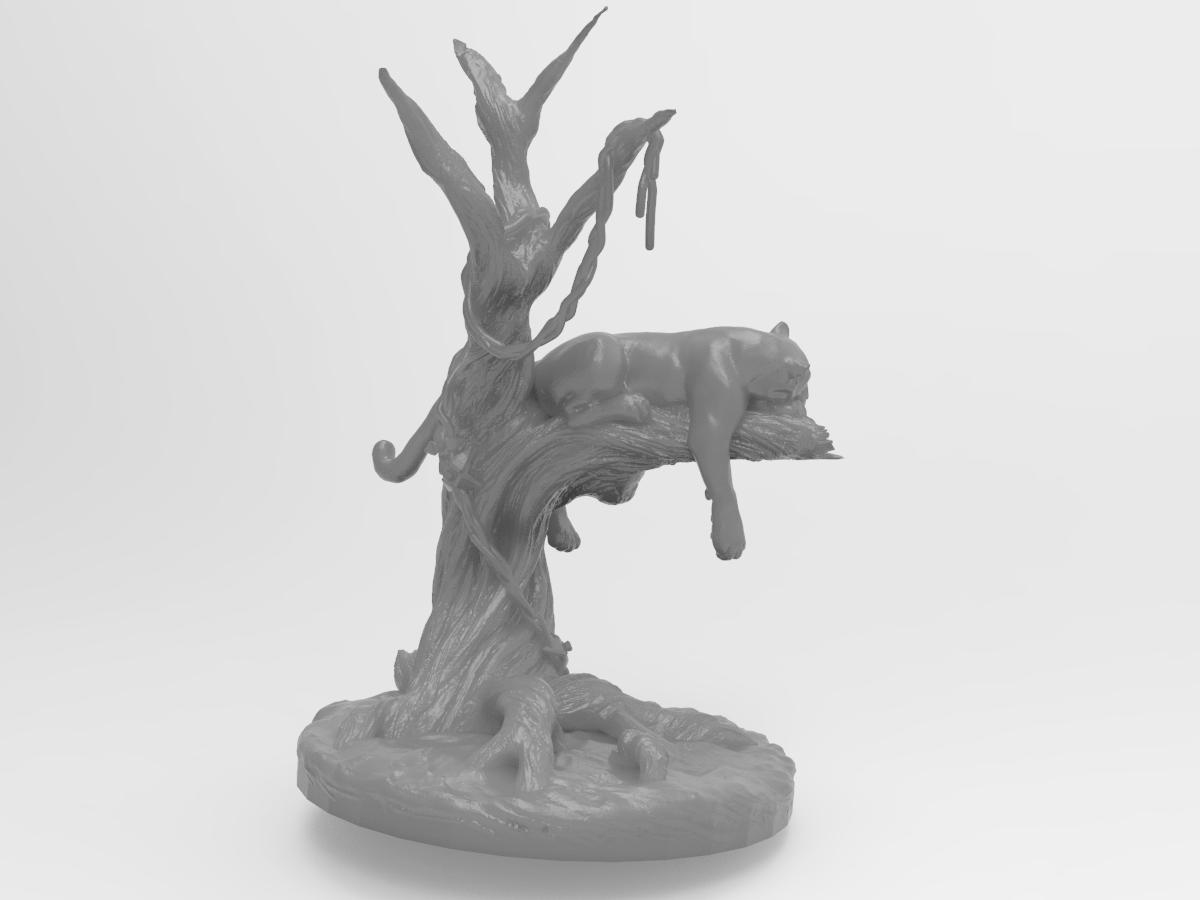 panter.240.png Télécharger fichier STL gratuit Panthère noire sur un arbre • Modèle à imprimer en 3D, Boris3dStudio