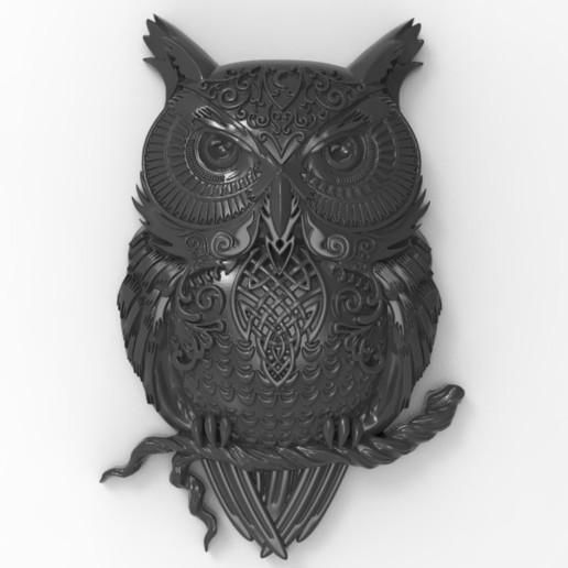 Download free 3D printing files Owl, Boris3dStudio