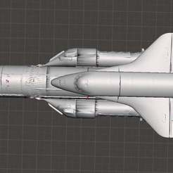 Download free 3D printer model Energiya Buran (Russian Space Shuttle) Energy Rocket (Buran programme), Boris3dStudio