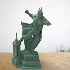 Download free 3D printer designs Batman on a stand, Boris3dStudio