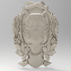 Download free 3D print files Owl shield for CNC, Boris3dStudio