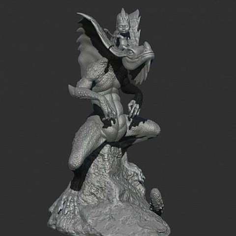 f3d961061ec2d792e50d926b8c50cfce_display_large.jpg Download free STL file King of the Lizzard • Object to 3D print, Boris3dStudio