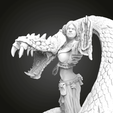 Download free 3D model Blood (Girl with a Snake), Boris3dStudio