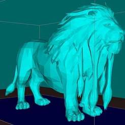 Download free 3D print files Lion, king of the animals, Boris3dStudio