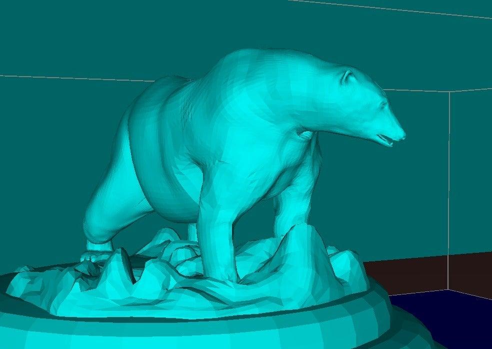 """531f864cfb8c617d0730893d823f1156_display_large.jpg Télécharger fichier STL gratuit Ours polaire """"Justin"""" • Design imprimable en 3D, Boris3dStudio"""