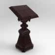 Owl_Shield.232.png Download free STL file Analogion - stand for books for priest or profet (For DND miniature and remixes) • 3D print object, Boris3dStudio