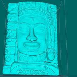 Download free STL files Stone face in Bayon Temple, Angkor Thom, Siem Reap, Cambodia, Boris3dStudio