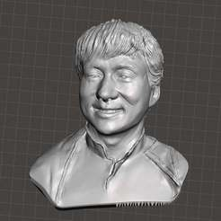 Download free STL Jackie Chan bust, Boris3dStudio