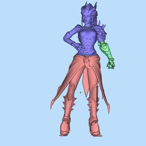 a2280e777329904a77e421c763b90fc1_display_large.jpg Download free STL file Symmetra demon (Dragon) skin cuted and fixed for print • 3D print template, Boris3dStudio