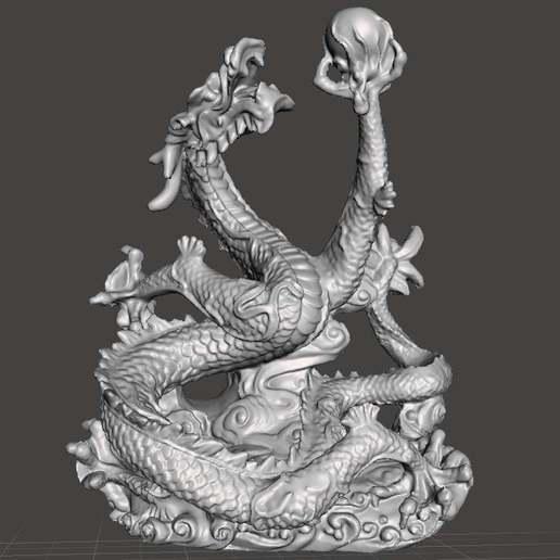 Télécharger fichier imprimante 3D gratuit Dragon chinois v3.2, Boris3dStudio