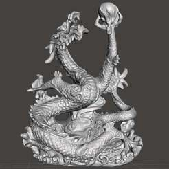 Download free STL Chinese dragon v3.2, Boris3dStudio