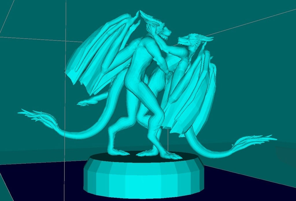 6edd9a639e58af2dcad92934c607b64a_display_large.jpg Download free STL file Furry Dragons in Love • 3D printer template, Boris3dStudio