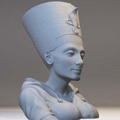 Download free 3D printer files 21st Century Nefertiti Bust, Boris3dStudio