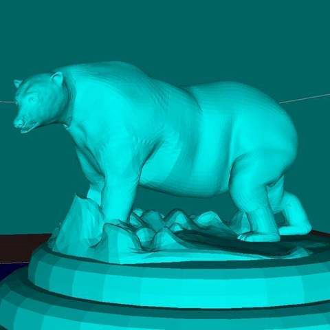 "Download free STL file Polar Bear ""Justin"", Boris3dStudio"